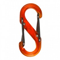 Wechselkarabiner transparent orange
