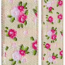 Shabby rose beige 15 mm